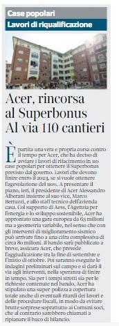 16 luglio 2021, Il Corriere di Bologna: